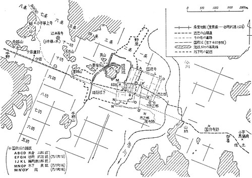 草上駅家周辺と播磨国府域