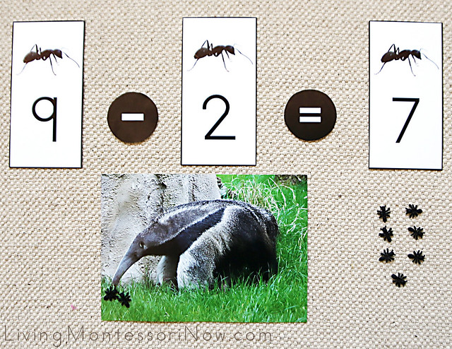 Ant and Anteater Subtraction Layout