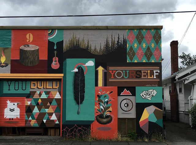 To Oregon With Love mural by Blaine Fontana Portland, Oregon