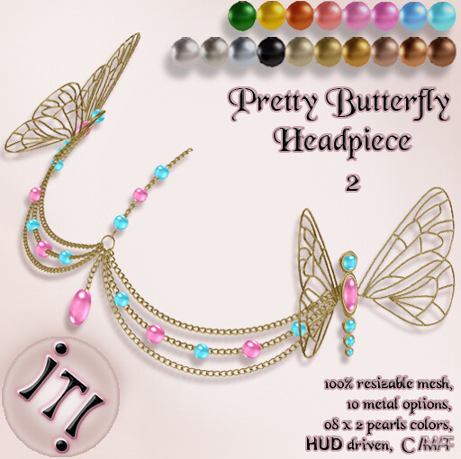 !IT! - Pretty Butterfly Headpiece 2 Image