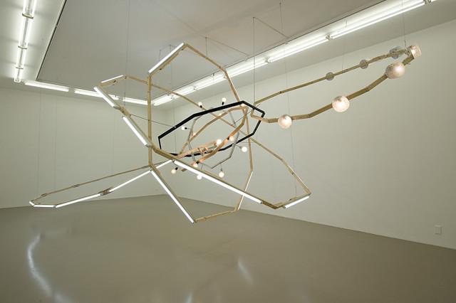 ビョーン・ダーレム|《ブラックホール(M-領域)》|2008年|木、スケール、蛍光灯、電球、着色剤|450×500×900cm|撮影:ブレイズ・アディロン|Courtesy:サーチ・コレクション、ロンドン |