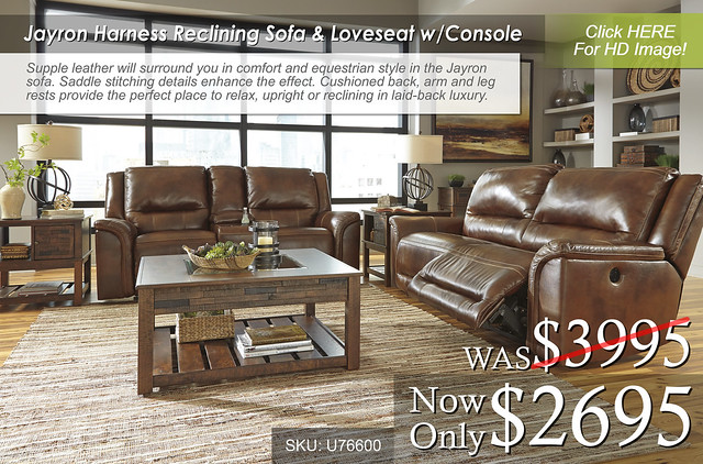 Jayron Harness Reclining Sofa & Loveseat w Console
