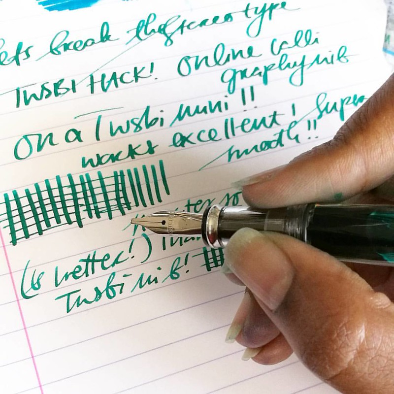 It's pen cleaning/tinkering day (on some Katy Perry tunes) and while cleaning my Online calligraphy set, I noticed that it looks a lot like the TWSBI mini (&eco) size. I did a nib exchange (kept the twsbi feed and housing) and presto! It works (and writes