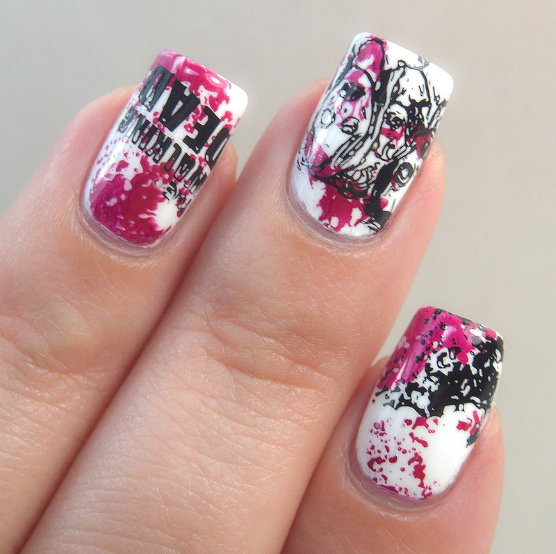 Walking Dead Halloween Nails Nail Art