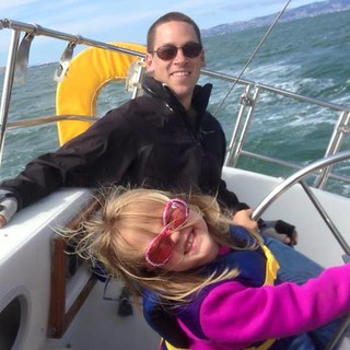 Tyler K and Katie, sailing