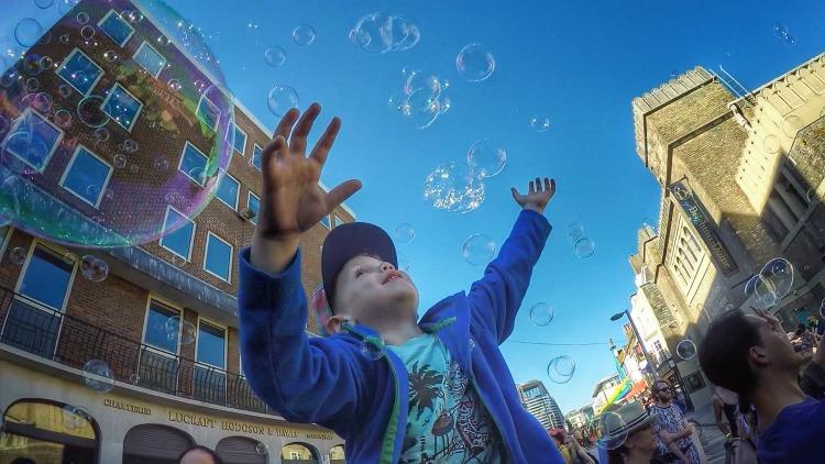 Brighton Pride bubbles