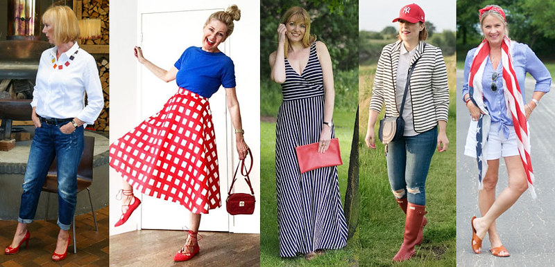 Fashion bloggers in red, white and blue #iwillwearwhatilike