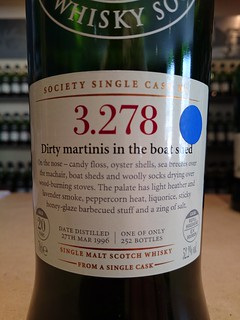 SMWS 3.278 - Dirty martinis in the boat shed