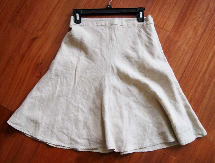 original linen bias skirt